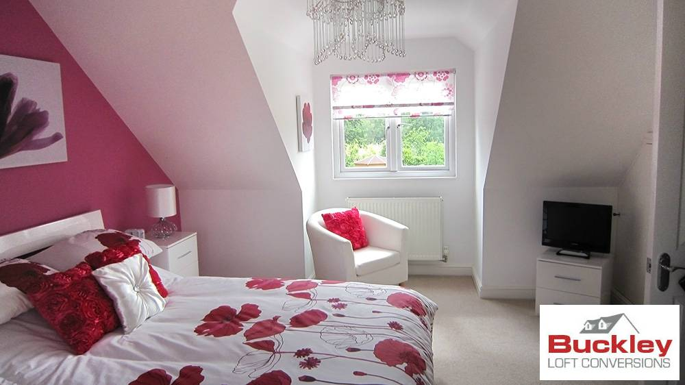 Attic conversion bedroom birmingham buckley loft conversions for Dormer bedroom designs