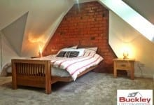 Birmingham Loft Conversion Brickwall Feature bedroom