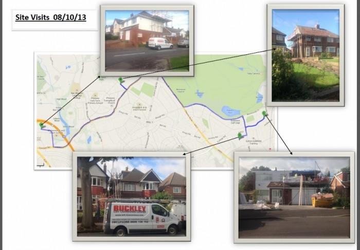 Birmingham Loft Conversion Site Visit Map