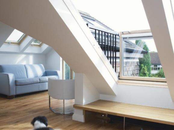 loft conversion ideas low roof - Guide to Velux Cabrio Balconies & Roof Terraces
