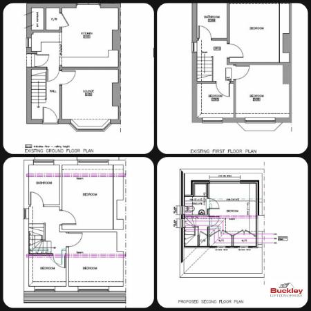 Loft conversion burntwood buckley loft conversions for Convert image to blueprint online
