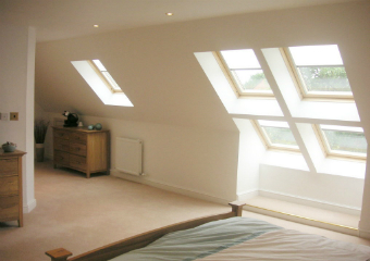 Loft Conversion Velux roof lights in Shropshire