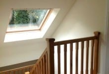 Oak Staircase with Feature Roof Light