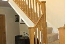 Oak Stop Chamfered Stairs Wolverhampton
