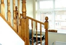 Pine Stained Stairs Great Barr