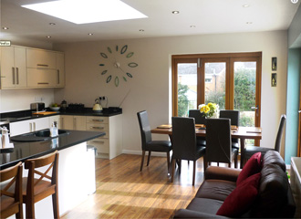 House Extension Showing Kitchen Area