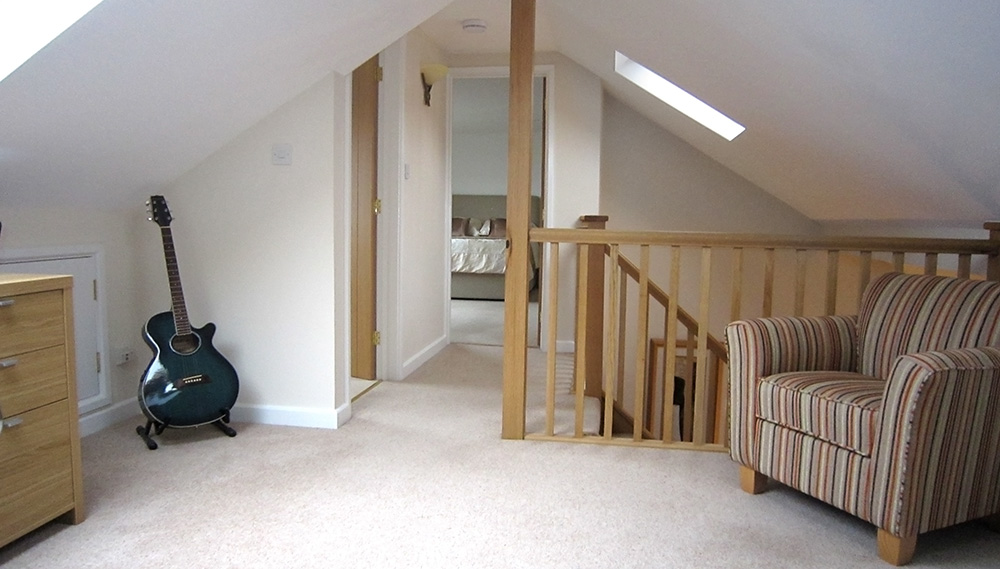 cape cod attic bedroom ideas - Loft Conversion Landing with Velux Rooflight in Cannock