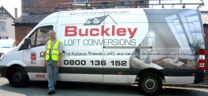 Buckley Loft Conversions Van & Driver