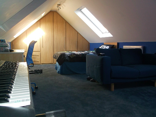 Childs Attic conversion Bedroom