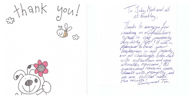 Client thank you letter