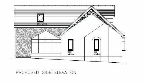 Side Extension Staffordshire Side Elevation
