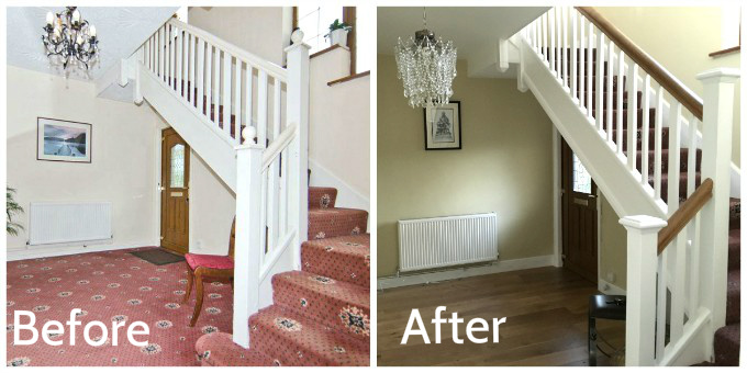 Staircase Renovation before and after 1